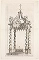 Isolated View of Bernini's Baldacchino. Plate 39 from the Album 'Basilica di S. Pietro in Vaticano' MET DP273757.jpg
