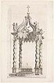 Isolated View of Bernini's Baldacchino. Plate 39 from the Album 'Basilica di S. Pietro in Vaticano' MET DP273757.jpg