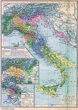 Los estados de la península itálica en 1494