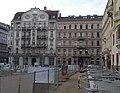 József nádor téri átépítés a József Attila utca 8 és 10 épületek felé nézve, 2018 Belváros-Lipótváros.jpg