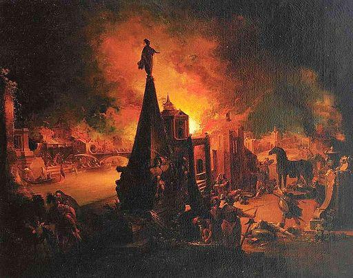 J G Trautmann Das brennende Troja