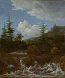 Jacob van Ruisdael - Landscape with waterfall and pine trees.jpg