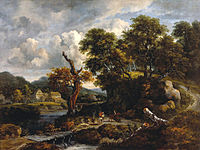 Jacob van Ruisdael - Travellers and shepherds at a crossroads near a dead tree.jpg