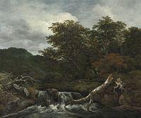 Jacob van Ruisdael - Waterfall in a Hilly Wooded Landscape.jpg