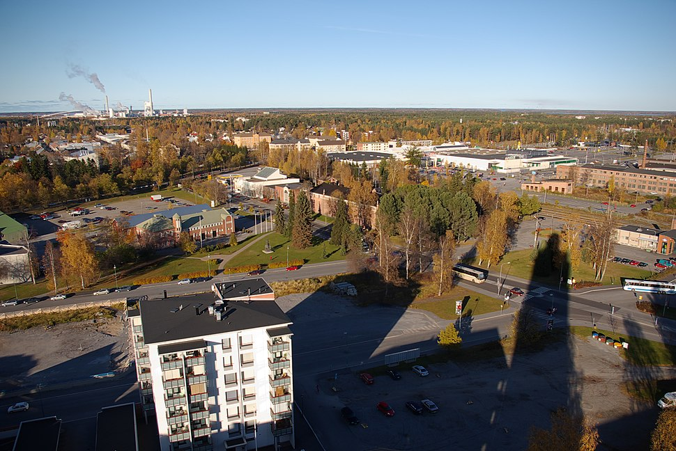 Jakobstad from water tower