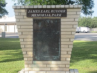James Earl Rudder - James Earl Rudder Memorial Park in Eden, Texas