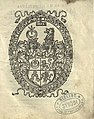 Jan Hlabovič, Pahonia. Ян Глябовіч, Пагоня (1584).jpg