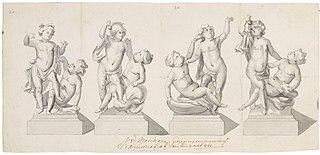 Four designs for garden sculptures