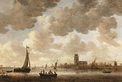 Jan van Goyen: View of Dordrecht downstream from the Grote Kerk