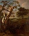 Jan van Kessel - Een berkenstam in een heuvelachtig landschap - 2248 - Rijksmuseum Twenthe.jpg