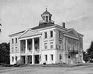 Bishop Hill Colony - Steeple Building. Photo taken June 1976.
