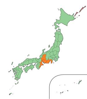 Tōkai region subregion in Japan