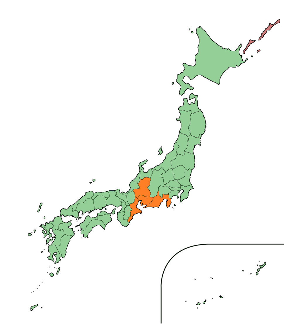 Japan Tōkai Region large