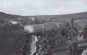 Siege of Port Arthur - Japanese 11-inch howitzers during the Siege of Port Arthur