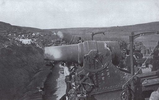 Japanese 28 cm Howitzer during the Siege of Port Arthur