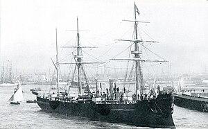 Japanese cruiser Unebi - Image: Japanese cruiser Unebi 1886