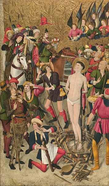 File:Jaume Huguet - Saint Vincent at the Stake - Google Art Project.jpg