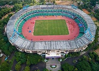 Jawaharlal Nehru Stadium (Chennai) - Jawaharlal Nehru Stadium Aerial View (Chennai)