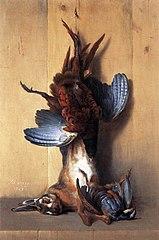 Faisan, lièvre et perdrix rouge