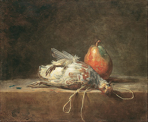 Jean Siméon Chardin - Still Life with Partridge and Pear - Google Art Project