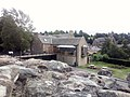 Jedburgh Abbey visitor centre from the Abbey's grounds.jpg