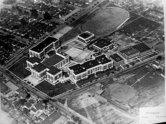 Jefferson High School (Los Angeles) - Jefferson High Original School aerial view, 1920