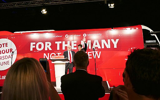 Jeremy Corbyn, Leader of the Labour Party speaking at the General Election Launch 2017