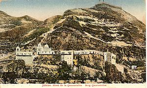 Mount of Temptation - Old postcard