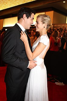 Jessica Marais & James Stewart at 2011 TV Week Logie Awards (3).jpg