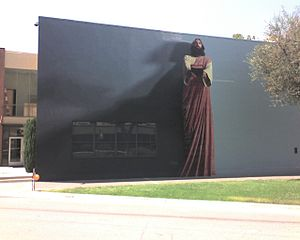 "Biola University - ""The Word"", mural by Kent Twitchell."