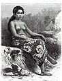 Jeune fille de l'ile Rimatara. Dessin de E. Ronjat, d'après une photographie.jpg