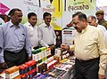 Jitendra Singh visiting the stall, at the inauguration of a seminar on Prevention & Control of Diabetes through Ayurveda and launch of Mission Madhumeha through Ayurveda, on the occasion of the National Ayurveda Day.jpg