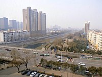 Jiyuan - view from Jiyuan Century Hotel to Manghe N St, pic01.jpg