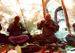 Joan Halifax - Joan with Seung Sahn Soen Sa Nim at the Ojai Foundation in 1979.