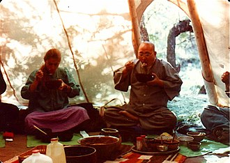 Joan Halifax - Joan with Seung Sahn Soen Sa Nim at the Ojai Foundation in 1979.