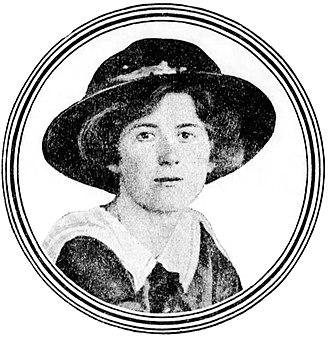 Eggington House - Joan Hodgson when she was Miss Joan Wickham, suffragette, 1913