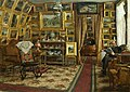 Johan Krouthen - Stiftsbibliotekare Segersteen i sitt hem 1885.jpg