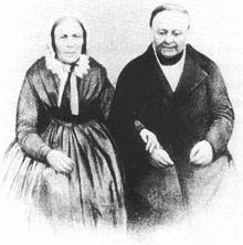 Johann Gottfried Schuncke und seine Frau Elisabeth am Tag der goldenen Hochzeit 11. April 1860 (Quelle: Wikimedia)