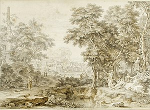 "Johannes de Bosch - Johannes de Bosch, ""Arcadian landscape"", Private collection."