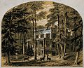 John James Audubon; his house. Colour line block by Richards Wellcome V0018684.jpg