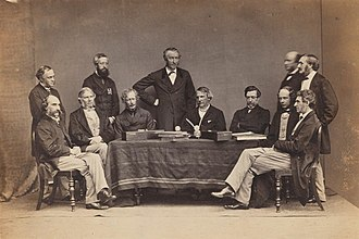 John Lawrence, 1st Baron Lawrence - John as Viceroy of India, sitting middle, with his Executive Council members and Secretaries