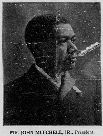 John Mitchell Jr. - Image of Mitchell printed in a profile of the Mechanics Savings Bank in 1902.