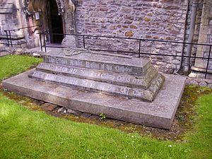 John Prichard - The grave of John Prichard in Llandaff Cathedral churchyard