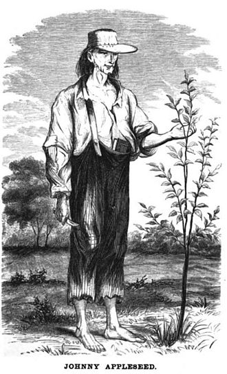 Johnny Appleseed - Image from Howe's Historical Collection