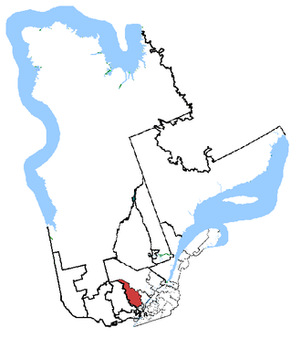 Joliette (electoral district) - Joliette in relation to other Quebec federal electoral districts