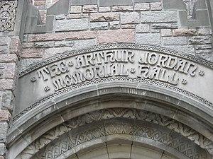 Arthur Jordan Memorial Hall - Image: Jordan Hall Script