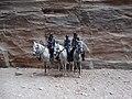 Jordan police patrol on horses. Petra.jpg