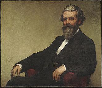 John Lowell (judge, 1865–1884) - Portrait of Lowell by William Morris Hunt, 1872