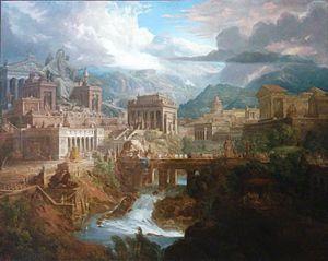 Joseph Gandy - Gandy, ancient Greek city of Lebadeia (modern Livadeia), 1819, Tate Britain
