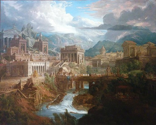 Jupiter Pluvius, ancient Greek city of Lebadeia, 1819, Joseph Gandy